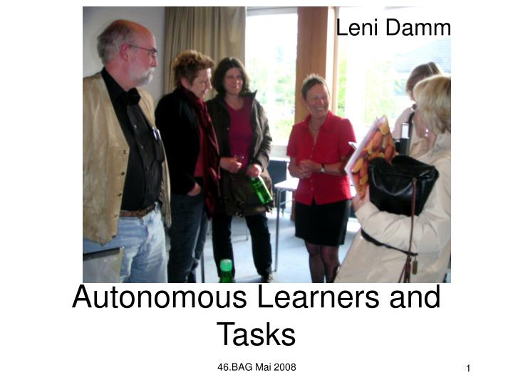 autonomous learners and tasks n.