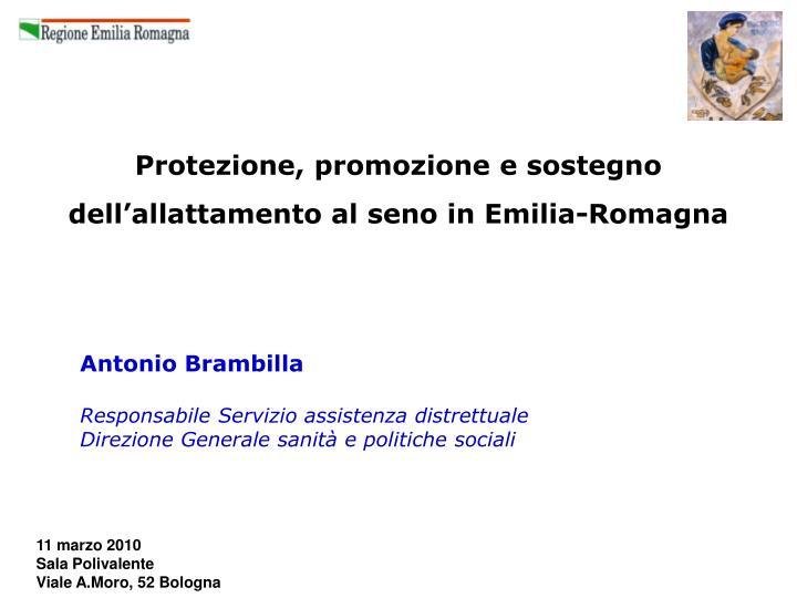 protezione promozione e sostegno dell allattamento al seno in emilia romagna n.