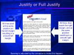 justify or full justify