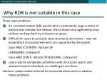 why rdb is not suitable in this case