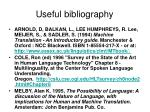 useful bibliography