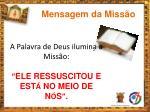 mensagem da miss o