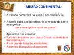 miss o continental