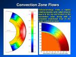 convection zone flows