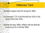 inflationary trend