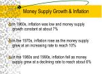 money supply growth inflation