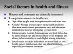 social factors in health and illness