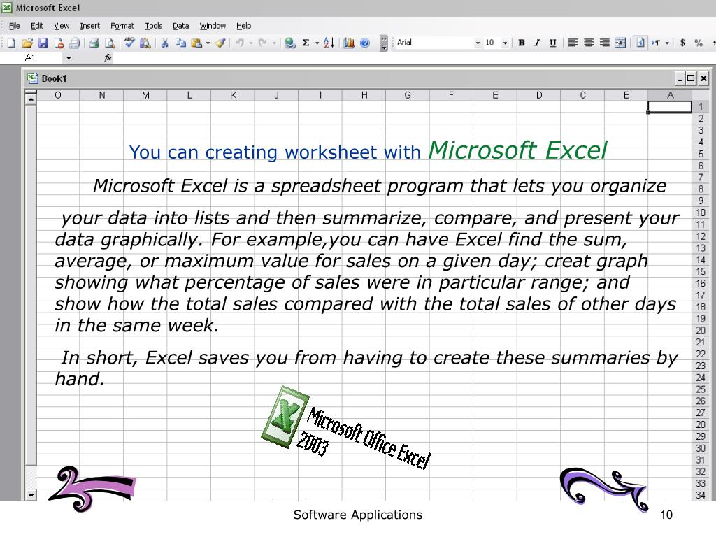You can creating worksheet with