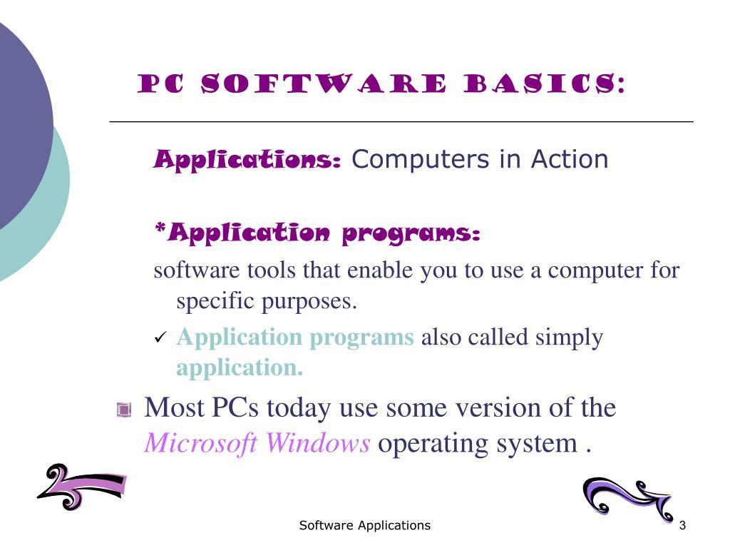 PC Software Basics: