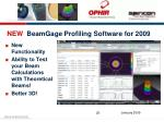 new beamgage profiling software for 2009