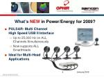 what s new in power energy for 2009