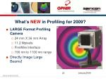 what s new in profiling for 20093