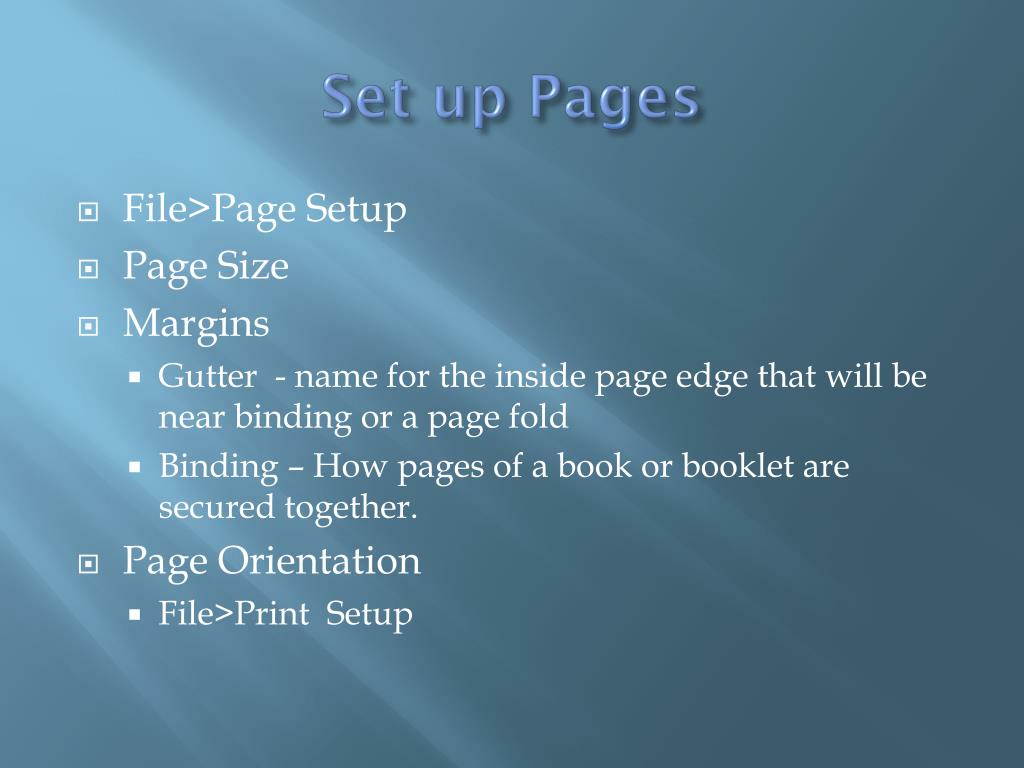 Set up Pages
