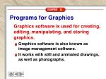 programs for graphics