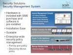 security solutions security management system