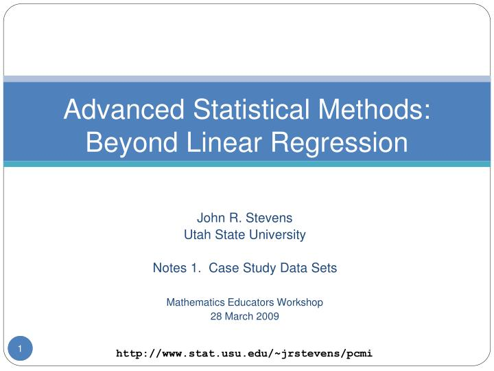advanced statistical methods beyond linear regression n.
