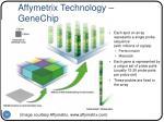 affymetrix technology genechip