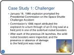 case study 1 challenger