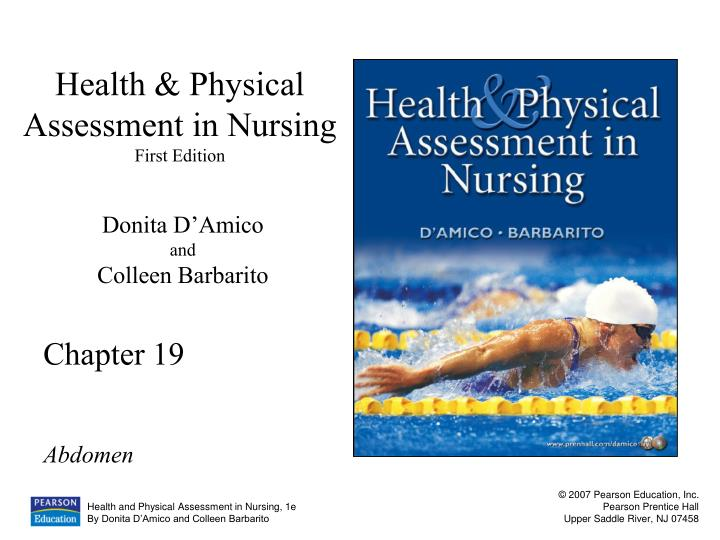 health physical assessment in nursing first edition n.