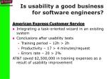 is usability a good business for software engineers1