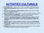 activit i culturale