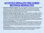 activit i derulate prin comisii metodice nedidactice2