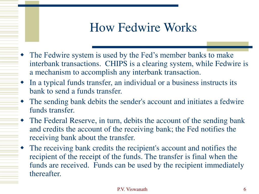 How Fedwire Works
