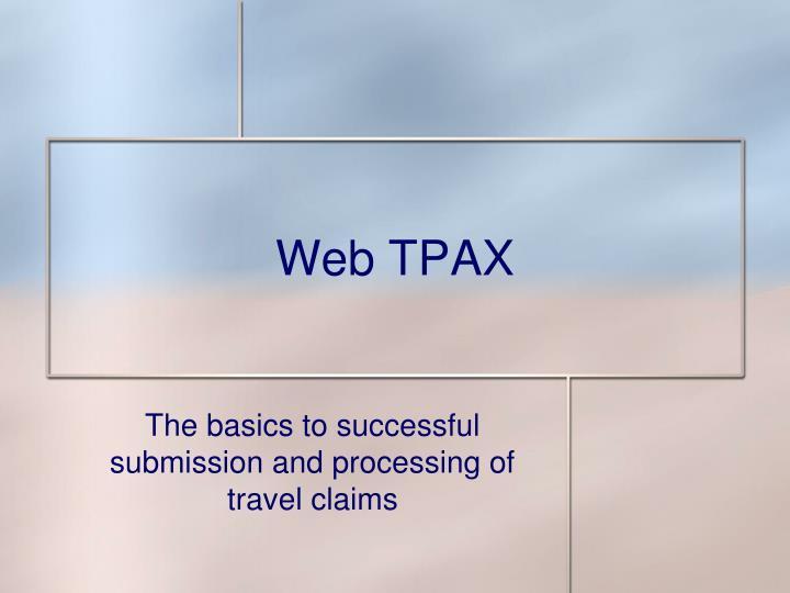 web tpax n.