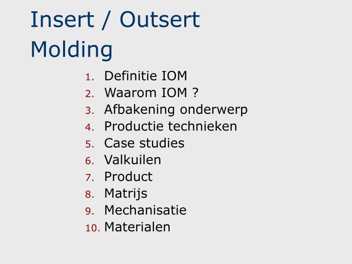insert outsert molding n.