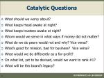 catalytic questions