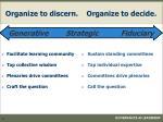 organize to discern organize to decide