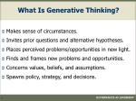 what is generative thinking