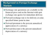 background on foreign exchange markets5