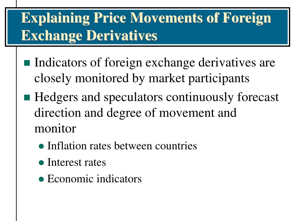 Explaining Price Movements of Foreign Exchange Derivatives