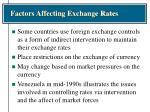 factors affecting exchange rates16