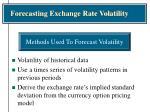 forecasting exchange rate volatility25