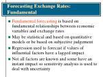 forecasting exchange rates fundamental