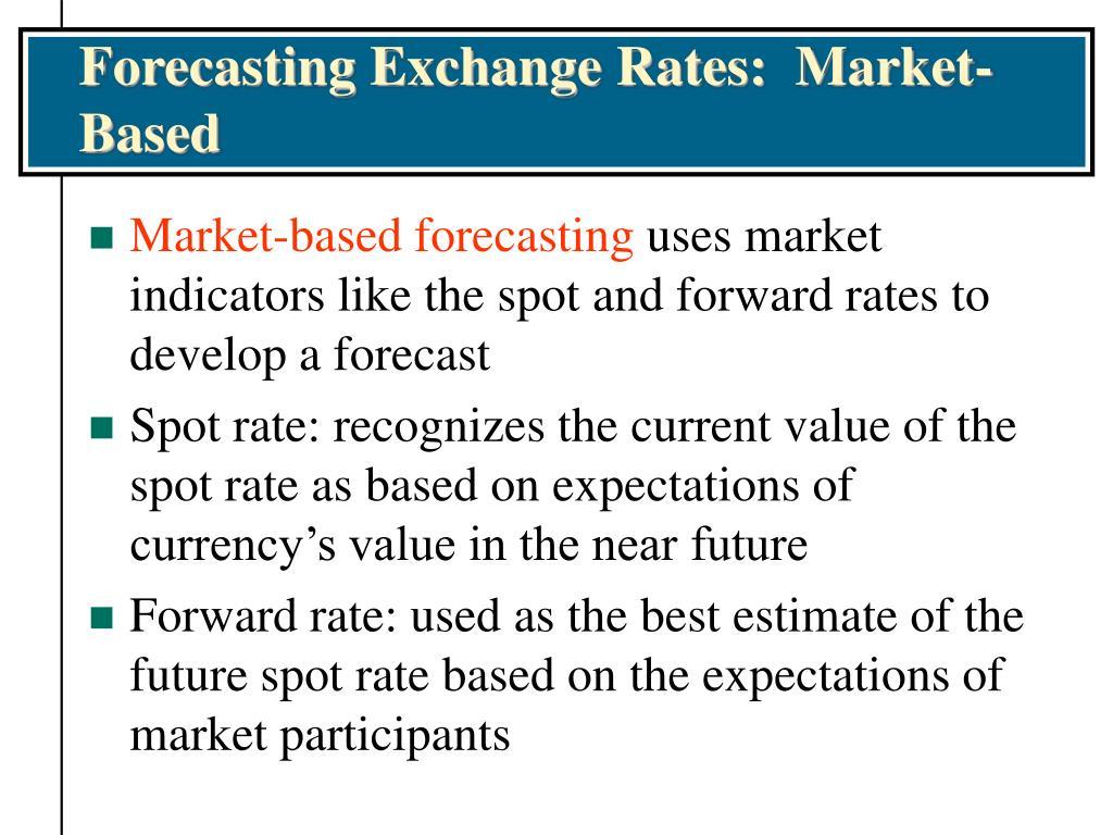 Forecasting Exchange Rates:  Market-Based