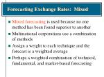 forecasting exchange rates mixed