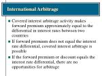 international arbitrage38