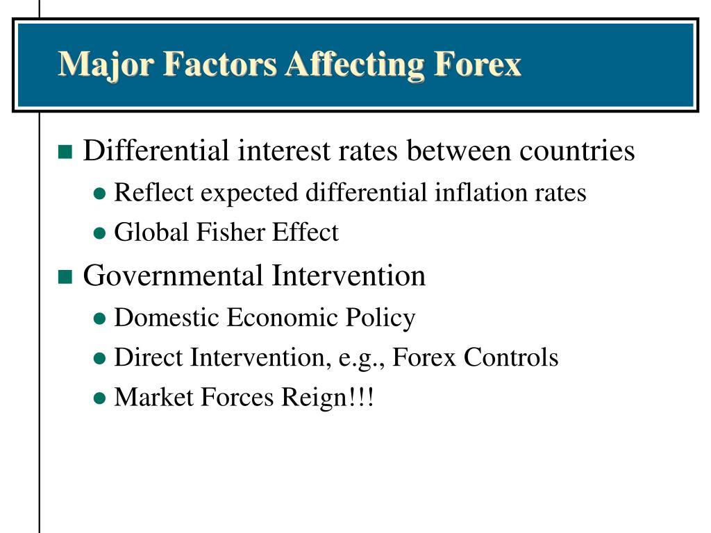Major Factors Affecting Forex
