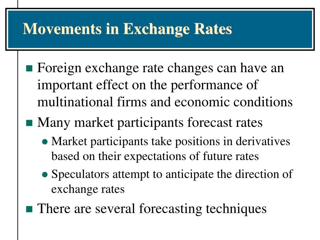Movements in Exchange Rates