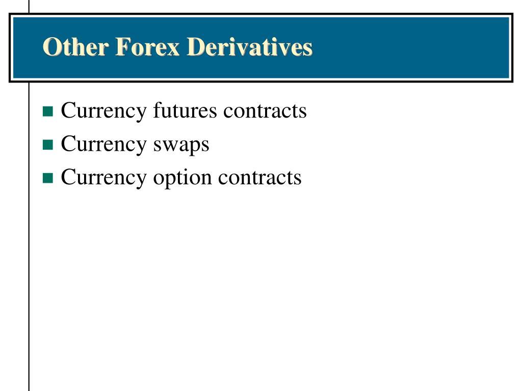 Other Forex Derivatives