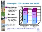 chirurgie 270 cancers des vads