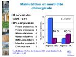 malnutrition et morbidit chirurgicale
