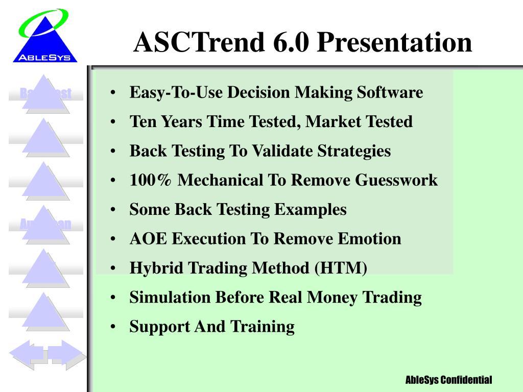 asctrend 6 0 presentation l.