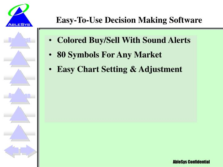Easy to use decision making software