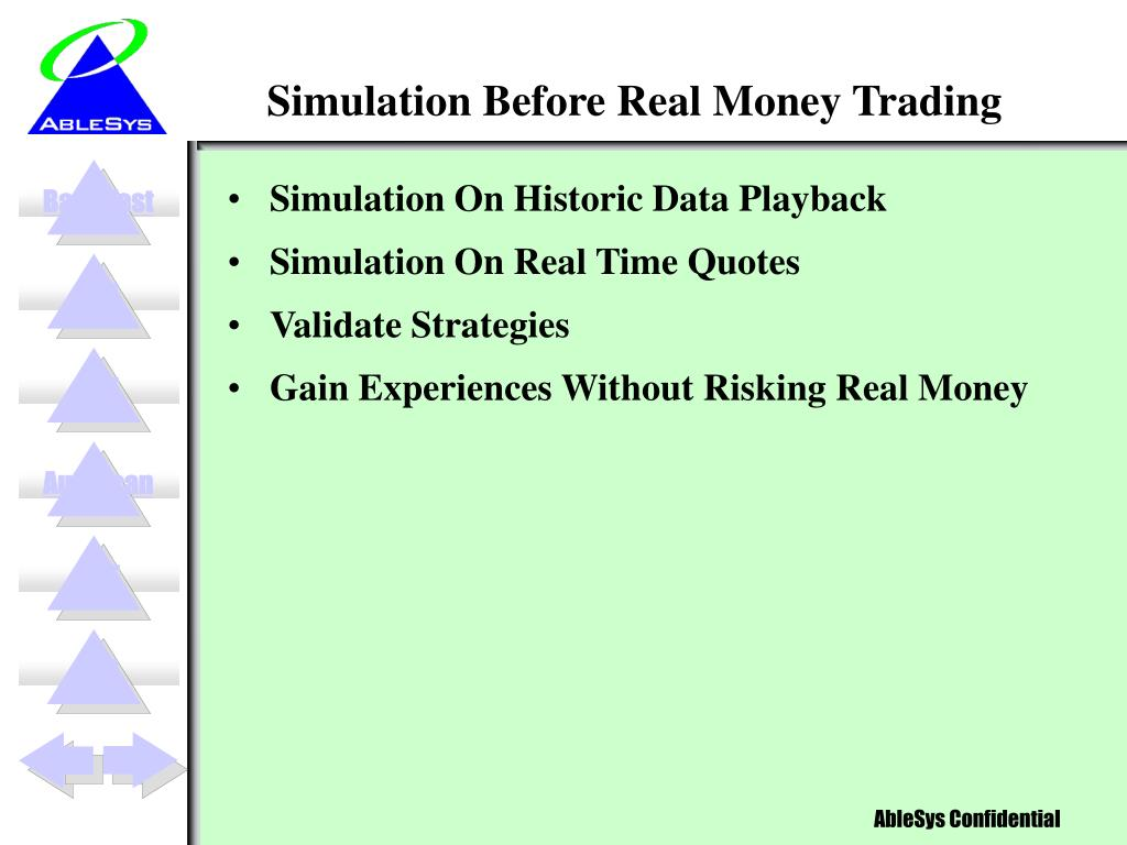 Simulation Before Real Money Trading
