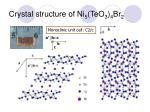 crystal structure of ni 5 teo 3 4 br 2