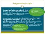 programmes suite